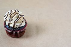 Chocolate Cupcakes with Whipped Peanut Butter Frosting