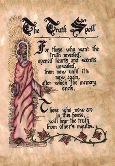 The Truth Spell (Charmed) Halloween Spell Book, Witch Spell Book, Halloween Spells, Charmed Spells, Charmed Book Of Shadows, Charmed Tv, Witchcraft Spell Books, Magick Spells, Luck Spells