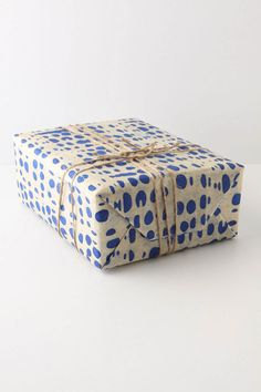 pretty spotted wrapping paper