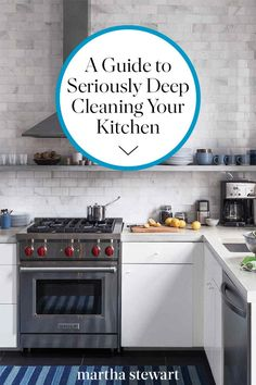 Grab a few handy tools and some highly effective solutions to get your kitchen squeaky-clean. Clean Kitchen Cabinets, New Kitchen, Kitchen Appliances, Kitchen Cleaning, Deep Cleaning Checklist, Cleaning Hacks, Clean Refrigerator, Clean Machine, Spring Cleaning