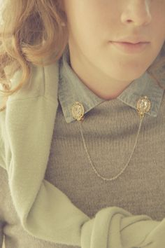 { collar clips } these are a must have especially because i looove buttoning up my shirts