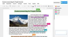 Produkte – Google Apps for Business - Word mit funktionierendem Collaborationstool