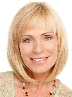 shoulder+length+hairstyles+over+50+-+shoulder+length+bob+haircut+with+bangs