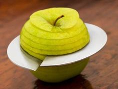 The Giro Apple Slicer allows you to slice in a spiral form around the apple's core.
