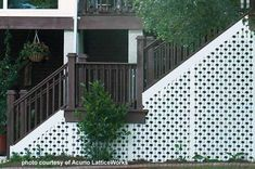 lattice used as skirting under staircase