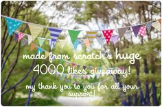 4000 Likes - Made From Scratch ... a delightful little blog, full of yummy recipes, clever crafts, and handy decorating hints :) So gorgeous!