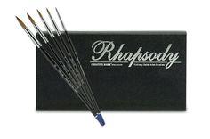 Rhapsody Kolinsky Sable Artist Watercolor Brush Set - JerrysArtarama.com
