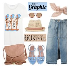 60 Second Style: Graphic T-Shirts by mada-malureanu on Polyvore featuring Solid & Striped, Sea, New York, See by Chloé, Stella & Dot, Oasis, Cutler and Gross, Gucci, graphictshirt and 60secondstyle