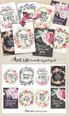 Printable Bible Verses, Scripture Cards, Prayer Cards, Printable Wall Art, Prayer Verses, Printable Tags, Verses For Cards, Tea Tag, Decoupage