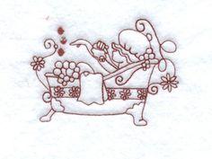 Bubble Bath Bonnets Machine Embroidery Designs
