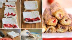 Unos postres deliciosos . Rollitos de canela con fresas #Postres #Cocina #gastronomía http://blgs.co/I4yHC6