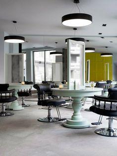 Magnífico proyecto de interiorismo el de la peluquería Inch HairStudio en Oslo