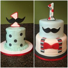 Little Man cake. Love the moustache and number one!