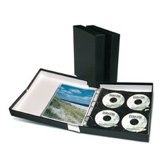 Professional archival 2 clamshell box with binder is perfect for long-term storage of photos, negatives, slides and CD's. Cd Storage, Photo Storage, Long Term Storage, Photo Folder, Cheap Frames, Photo Corners, 3 Ring Binders, Printed Pages, Hole Punch