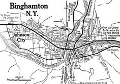 Binghamton, New York 1920 - just one of 71 maps of New York