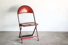 metal chair folding chair outdoor furniture shaped by littlecows, $105.00