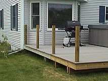 Best How To Install 4X4 Posts For Deck Handrails Framing 400 x 300