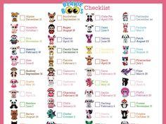 Beanie Boos List, Beanie Boo Party, Ty Teddies, Big Eyed Animals, Beanie Boo Birthdays, Ty Boos, Adoption Party, Chibi, Keep Calm And Love