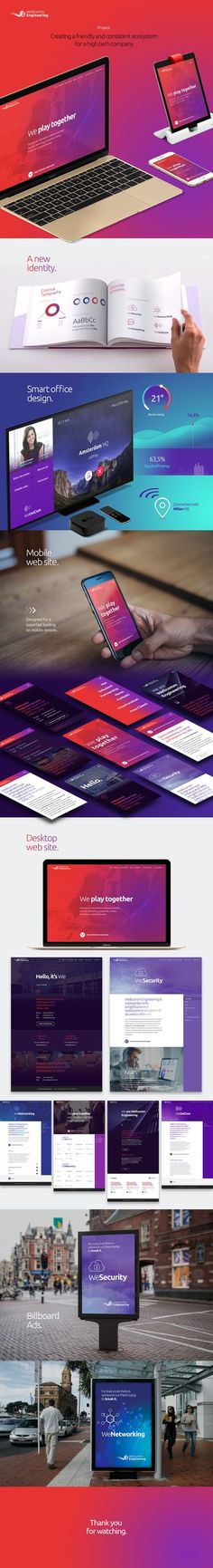 A friendly and consistent ecosystemfor a high tech company.: (Tech Trends Web Design)