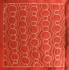 The Free Motion Quilting Project: Day 165 - Bubble Path