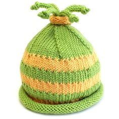 Cutie Hat for babies and toddlers - free knitting pattern at Knitca.com
