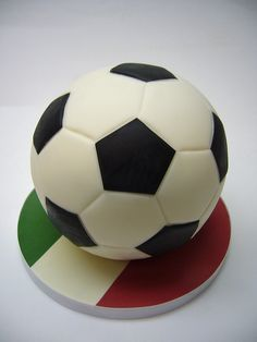 Half Soccer ball cake, add sheet cake w/ Mexican flag