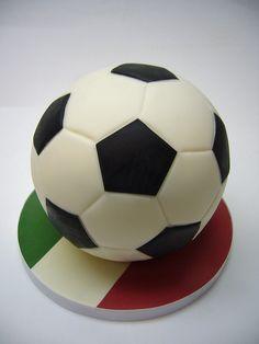 Soccer ball cake..