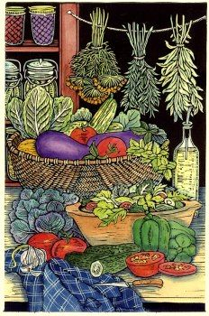 Mary Azarian Prints Page 2 Woodcut Art, Linocut Prints, Autumn Garden, Illustrations And Posters, Food Art, Line Art, Printmaking, Art Drawings, Illustration Art