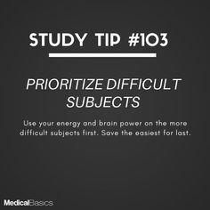 Whatever you don't want to do, do it first, and it will eliminate the dread that consumes your energy away from other tasks. Exam Motivation, Student Motivation, Study Techniques, Study Methods, Life Hacks For School, School Study Tips, School Tips, Effective Study Tips, Study Quotes