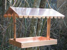 Solid copper bird feeder. by copperheadcrafts on Etsy