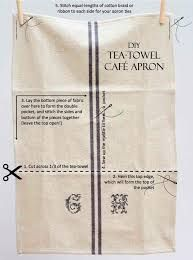 Image result for make tea towel into apron