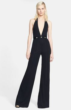 Versace Collection Crepe Jersey Halter Jumpsuit available at #Nordstrom