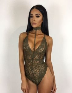 Semi Sheer Lace Onepiece