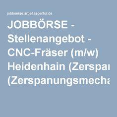 JOBBÖRSE - Stellenangebot - CNC-Fräser (m/w) Heidenhain (Zerspanungsmechaniker/in)