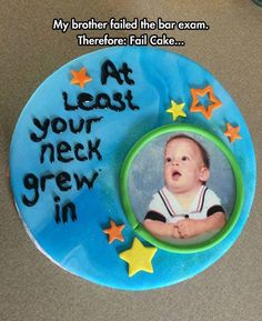 Fail Cake #Brother, #Cake, #Fail, #Funny