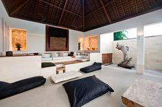 Susi Johnston living-room in Bali.