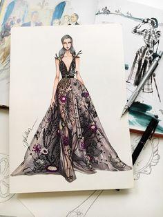 36 Ideas For Fashion Illustration Dresses Haute Couture Fashion Drawing Dresses, Fashion Illustration Dresses, Fashion Dresses, Drawing Fashion, Fashion Illustrations, Design Illustrations, Arte Fashion, Fashion Moda, Trendy Fashion
