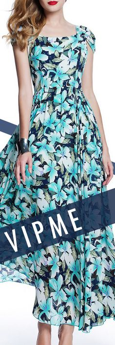 Floral Maxi on the Beach. Be Casual Be Sexy, Visit VIPme.com NOW!