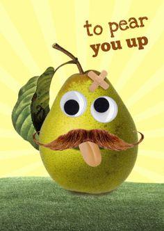 Een toffe peer to pear you up! Design: Lafiek. Te vinden op: www.kaartje2go.nl