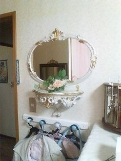 ロココ調鏡&コンソール