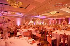 All eyes would be on the gorgeous center pieces and decor, if the chair ribbon things (can't remember what they're called) weren't on the chairs.