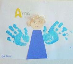 angel craft -handprint