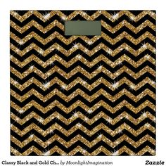 Classy Black and Gold Chevron Patte Bathroom Scale