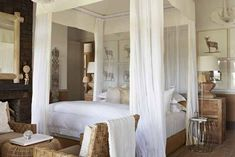 Singita Serengeti House will set you and friends or family up in the heart of Northern Tanzania's Serengeti. Learn more about Singita Serengeti House here. Lodge Bedroom, Safari Bedroom, Bedroom Bed, African Interior, African Home Decor, South African Decor, African Bedroom, South African Homes, Canopy Bed Frame