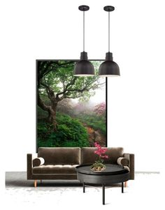 """enchanted wood"" by katrisha-art ❤ liked on Polyvore featuring interior, interiors, interior design, home, home decor, interior decorating, Sandro and Menu"