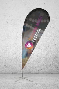 Einfach fantastisch! In Nullkommanix sind Beachflags aufgebaut und du machst auf dich aufmerksam. Form, Surfboard, Events, Music, Printing Process, Simple, Musica, Musik, Surfboards