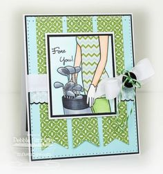 Who's that Girl? Plays Golf Teaser by mom2n2 - Cards and Paper Crafts at Splitcoaststampers
