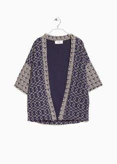 Bestickter Kimono