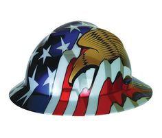 MSA 10071159 Full Brim Hard Hat Patriot V-Gard with Eagles - Industrial  Safety Products be90676393df