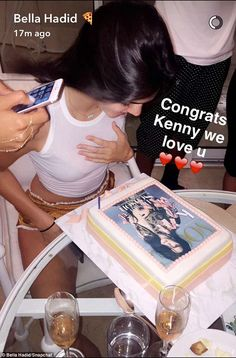 It takes the cake! To celebrate landing the coveted Vogue cover Kendall Jenner indulged in a cake emblazoned with her greatest triumph on Thursday